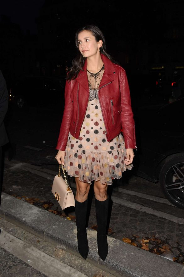 Nina Dobrev - Arrives at Dior Shop Opening in Paris