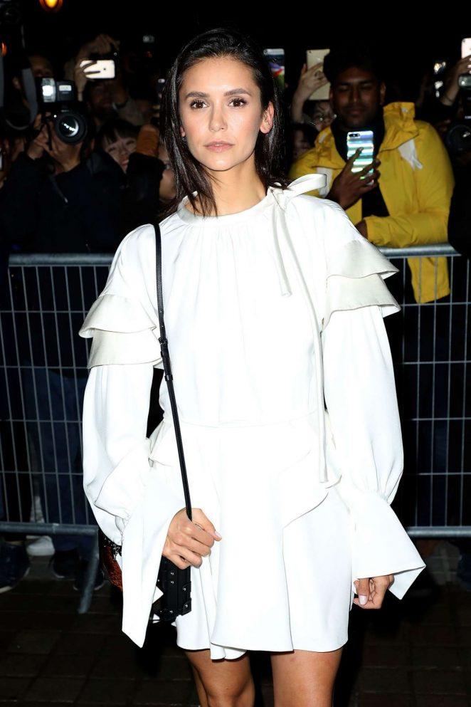 Nina Dobrev - Arrives at Louis Vuitton Fashion Show in Paris