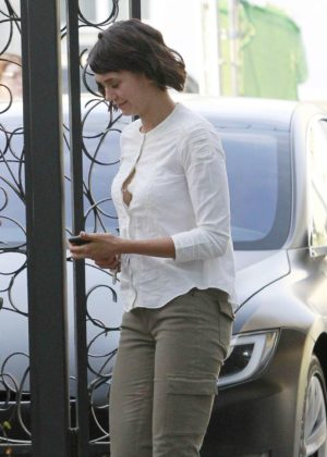 Nina Dobrev - Arrives at Nine Zero Salon in West Hollywood