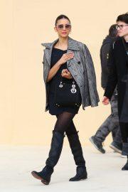 Nina Dobrev - arrives at the Dior show during Paris Fashion Week 2020