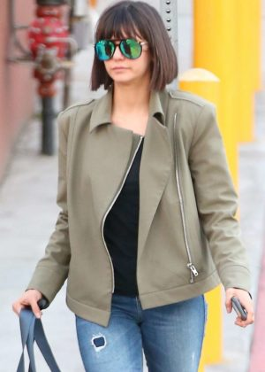 Nina Dobrev - Arriving at a dance studio in LA