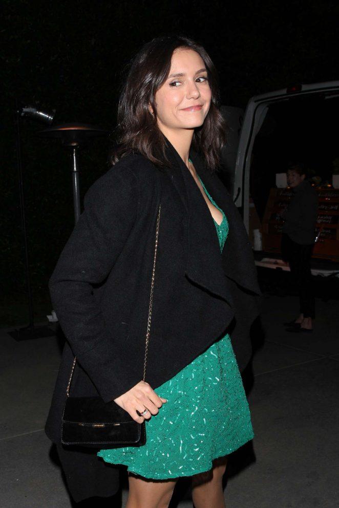 Nina Dobrev – Arriving at Jennifer Klein's holiday party in Los Angeles