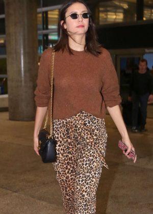 Nina Dobrev - Arriving at LAX airport in LA