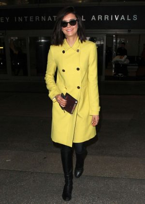 Nina Dobrev - Arriving at Los Angeles International Airport