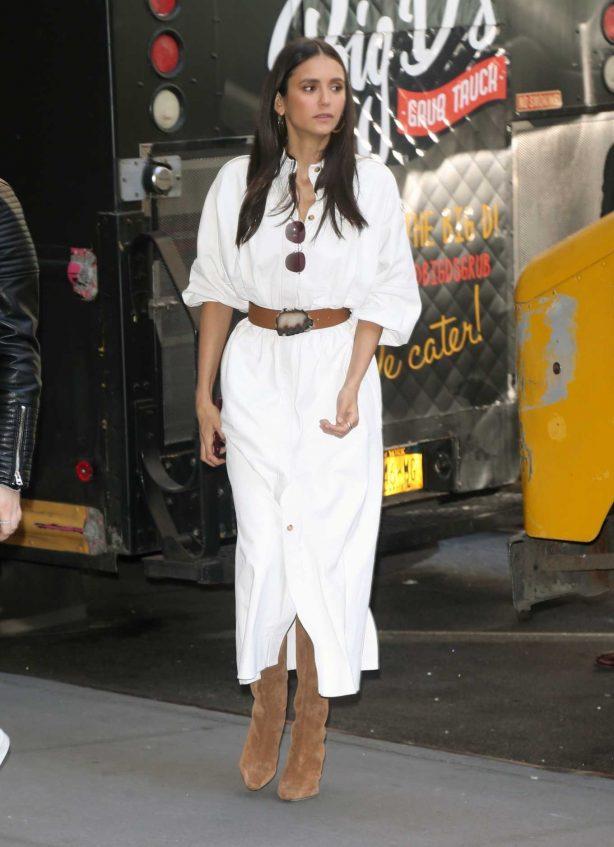 Nina Dobrev - Arriving at the Today Show in New York