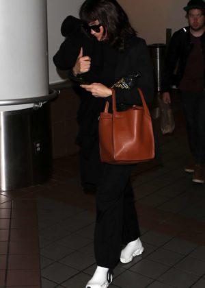 Nina Dobrev at LAX Airport in LA