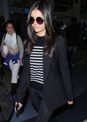 Nina Dobrev at LAX Airport in LA