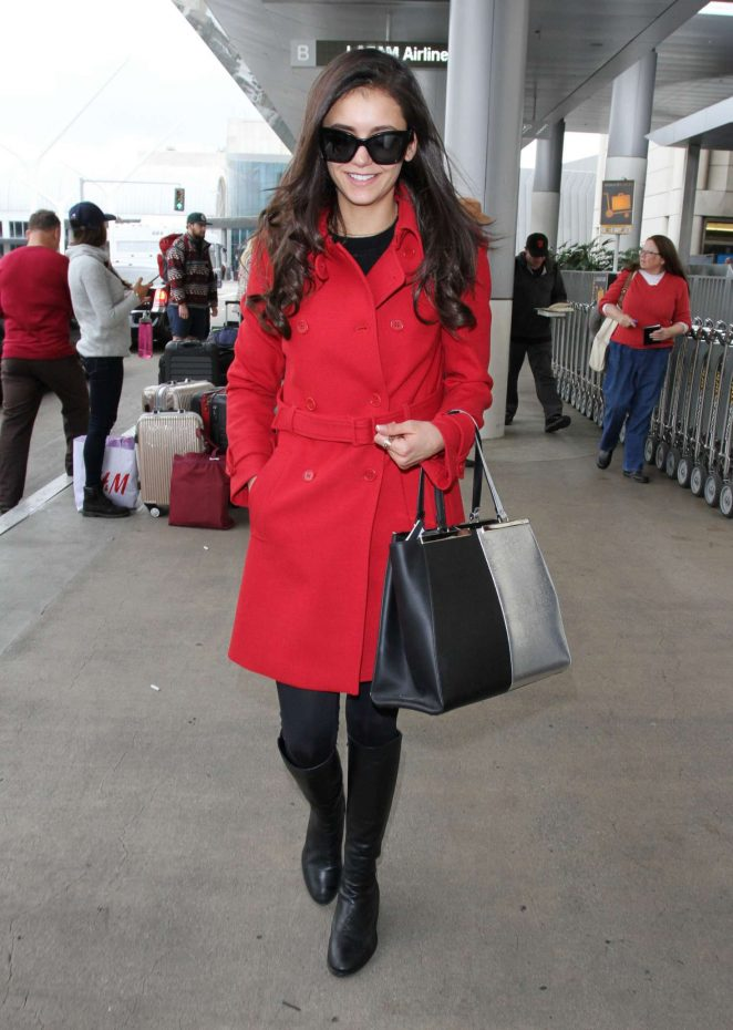 Nina Dobrev at LAX Airport in Los Angeles
