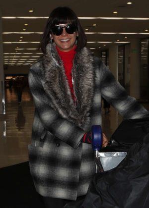 Nina Dobrev at LAX International Airport in Los Angeles