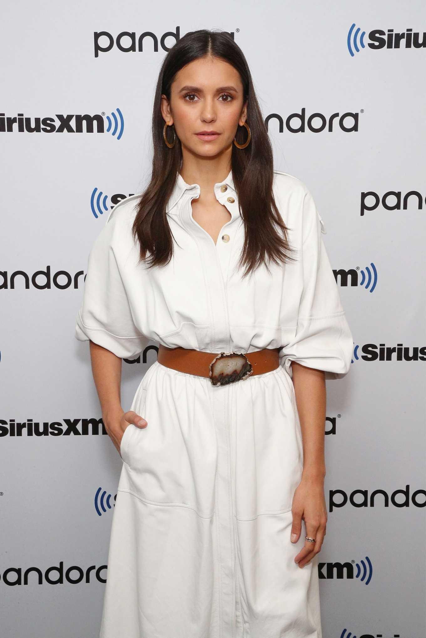 Nina Dobrev at SiriusXM Studios in NYC