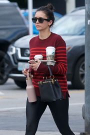 Nina Dobrev at Starbucks in West Hollywood