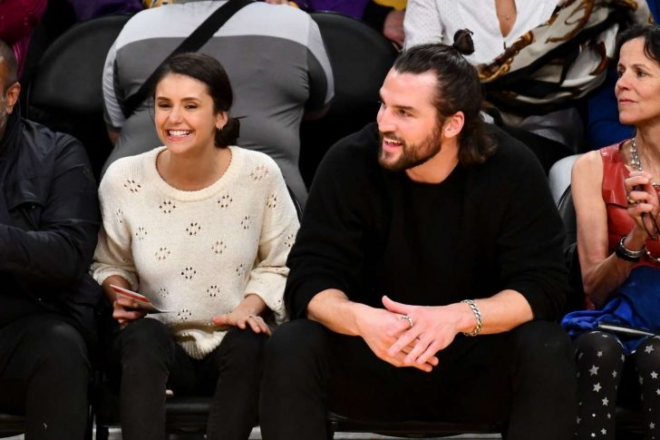 Nina Dobrev at the Lakers vs Wizards game -12