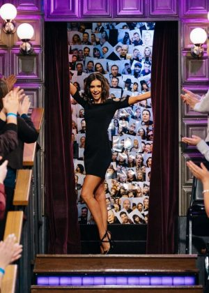 Nina Dobrev at The Late Late Show With James Corden in Los Angeles