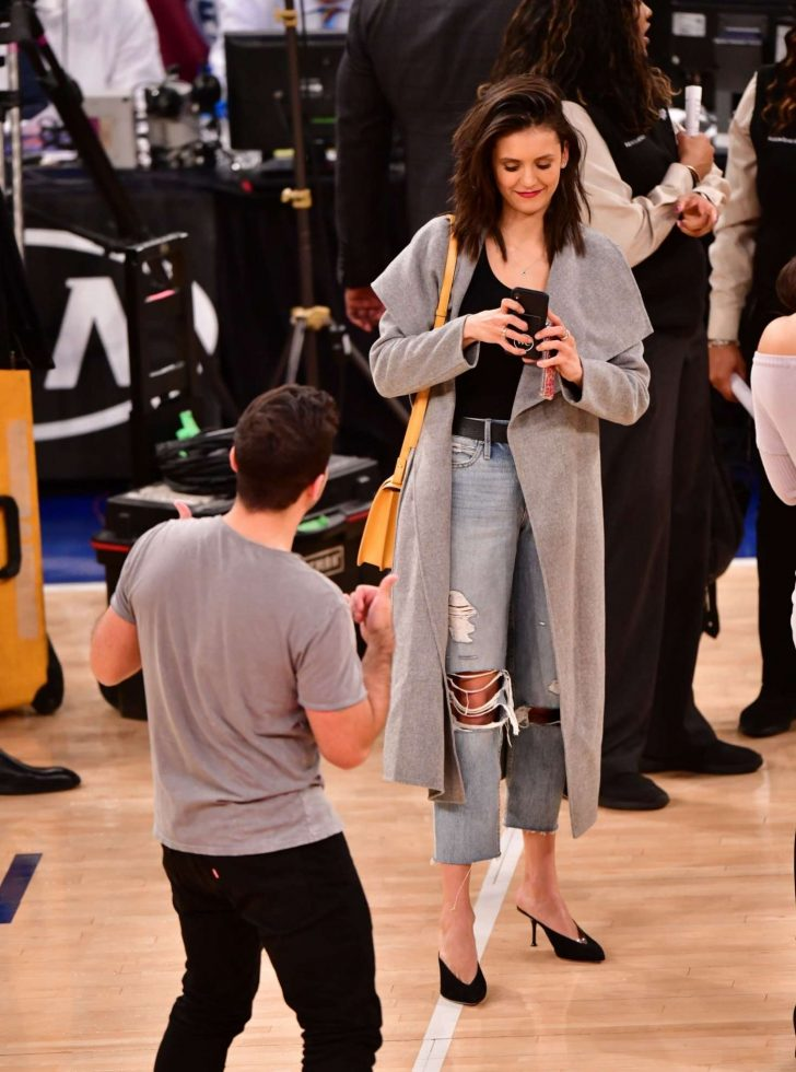 Nina Dobrev: Cleveland Cavaliers v New York Knicks Game -02