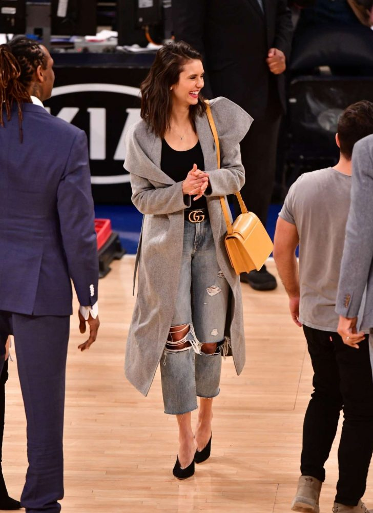 Nina Dobrev: Cleveland Cavaliers v New York Knicks Game -04