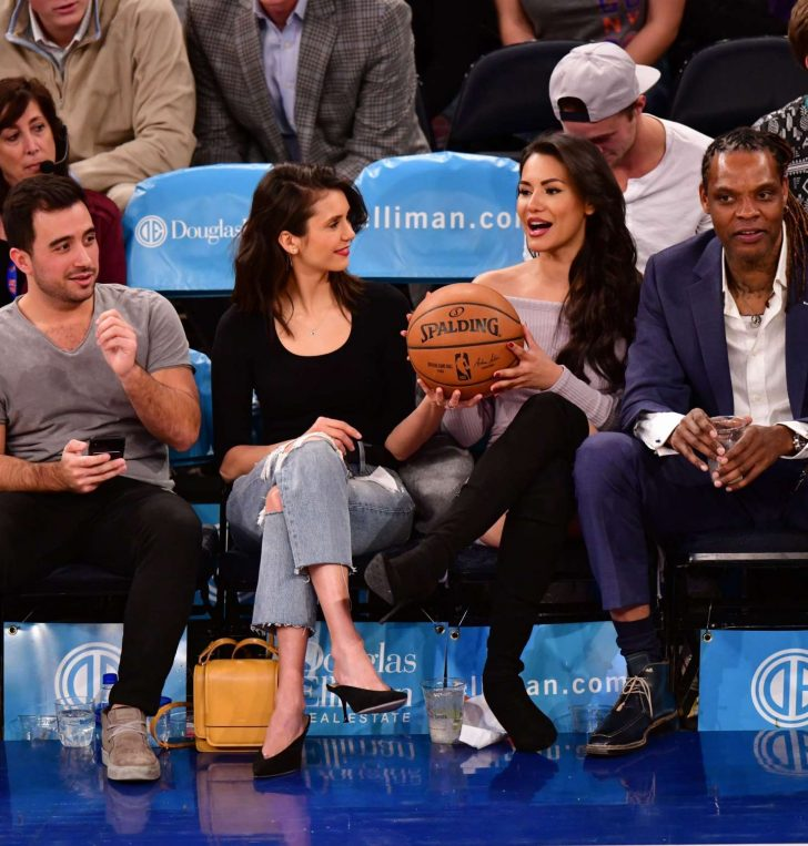 Nina Dobrev: Cleveland Cavaliers v New York Knicks Game -05