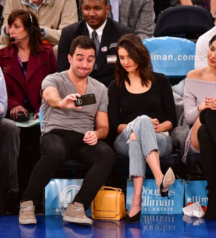 Nina Dobrev: Cleveland Cavaliers v New York Knicks Game -08