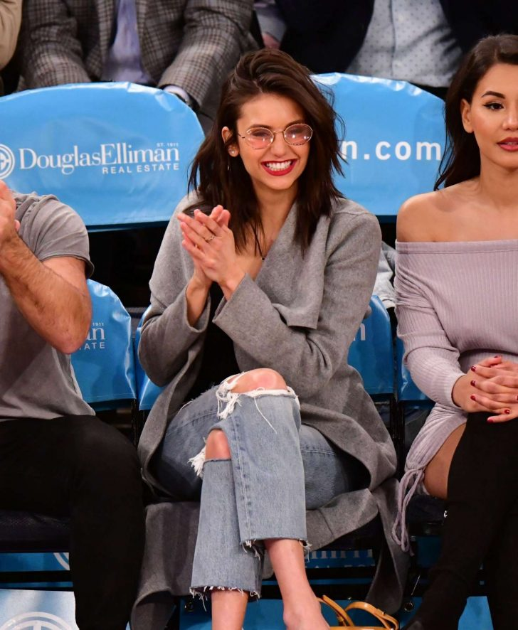 Nina Dobrev: Cleveland Cavaliers v New York Knicks Game -11