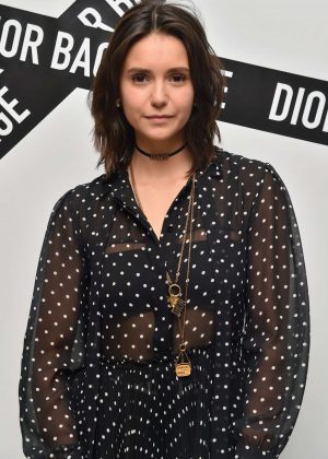 Nina Dobrev - Dior Backstage Collection Dinner in New York City