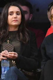 Nina Dobrev - Golden State Warriors vs. Los Angeles Lakers at Staples Center in LA
