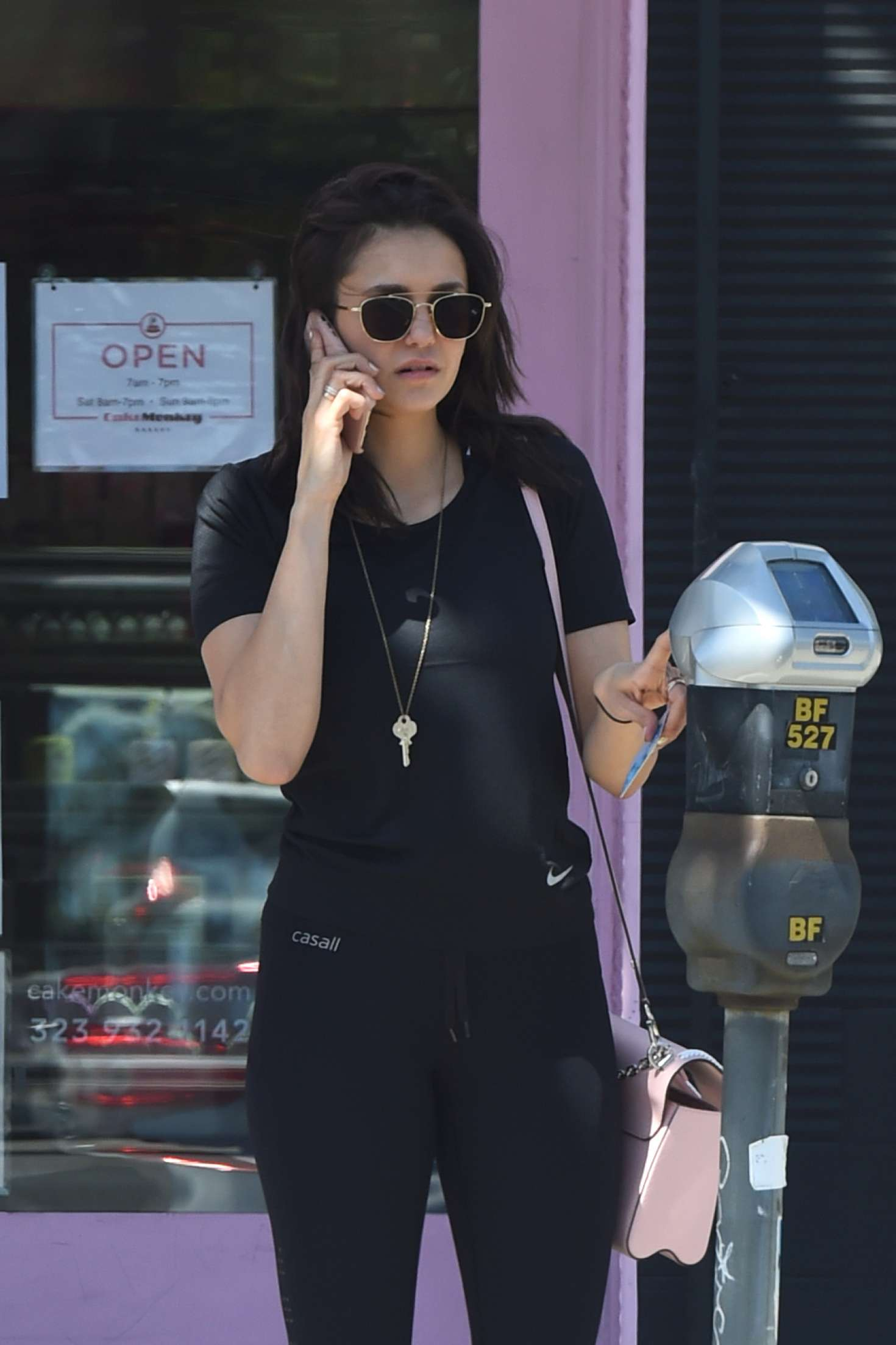 Nina Dobrev - Heads to the gym in Los Angeles
