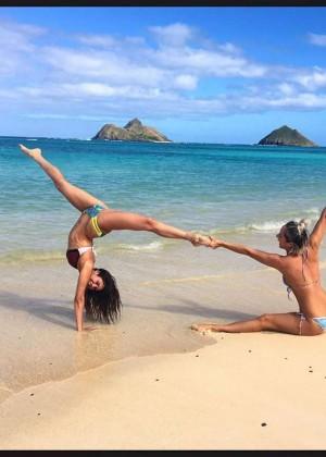 Nina Dobrev in a Bikini in Hawaii - Instagram Pic