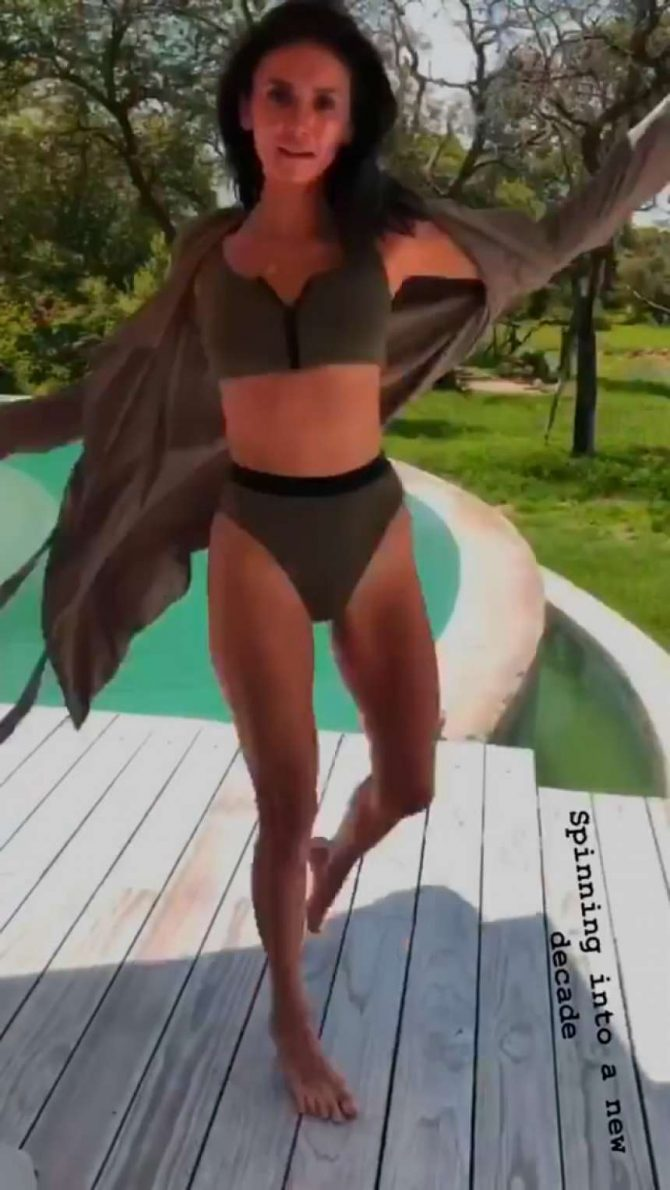 Nina Dobrev in a Bikini – Instagram