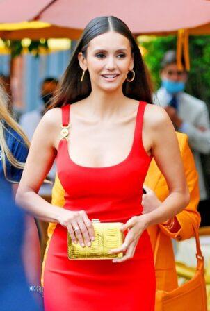 Nina Dobrev - In all red at Espy's party in New York City