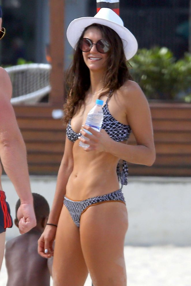 Nina Dobrev in Bikini at the beach in Soo Paulo