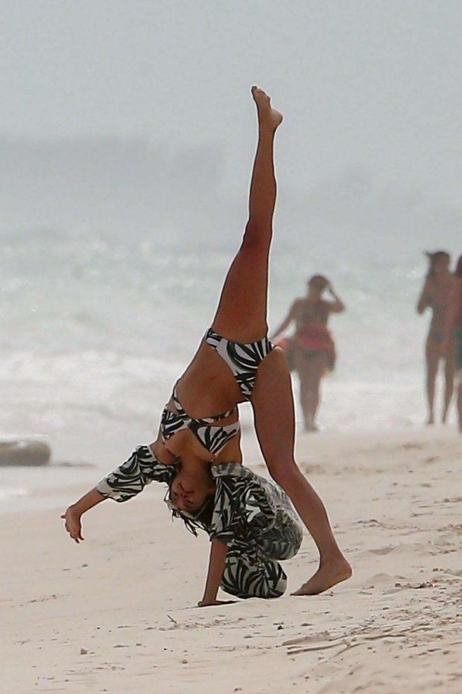 Nina Dobrev in Bikini at the beach in Tulum Pic 1 of 35