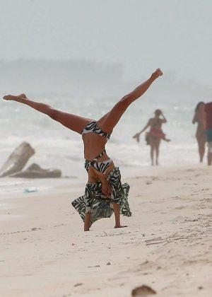 Nina Dobrev in Bikini at the beach in Tulum Pic 2 of 35