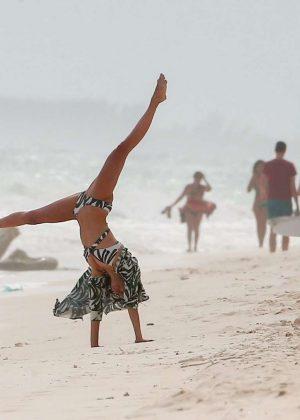 Nina Dobrev in Bikini at the beach in Tulum Pic 3 of 35