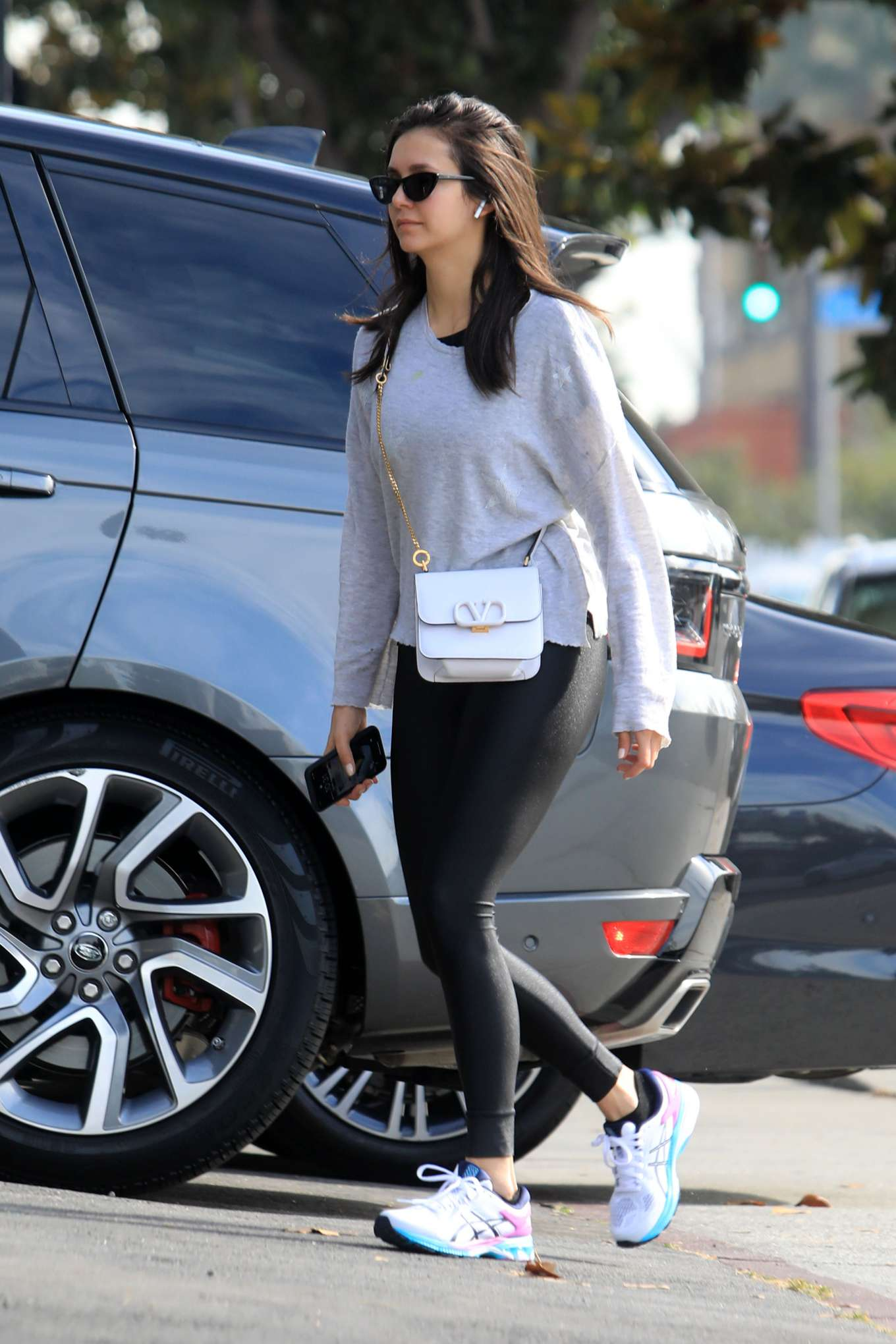 Nina Dobrev 2019 : Nina Dobrev in Black Leggings-04