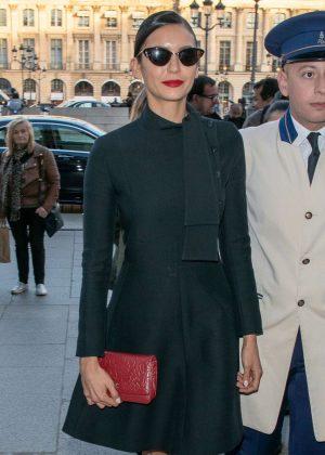 Nina Dobrev in Mini Dress - Out in Paris