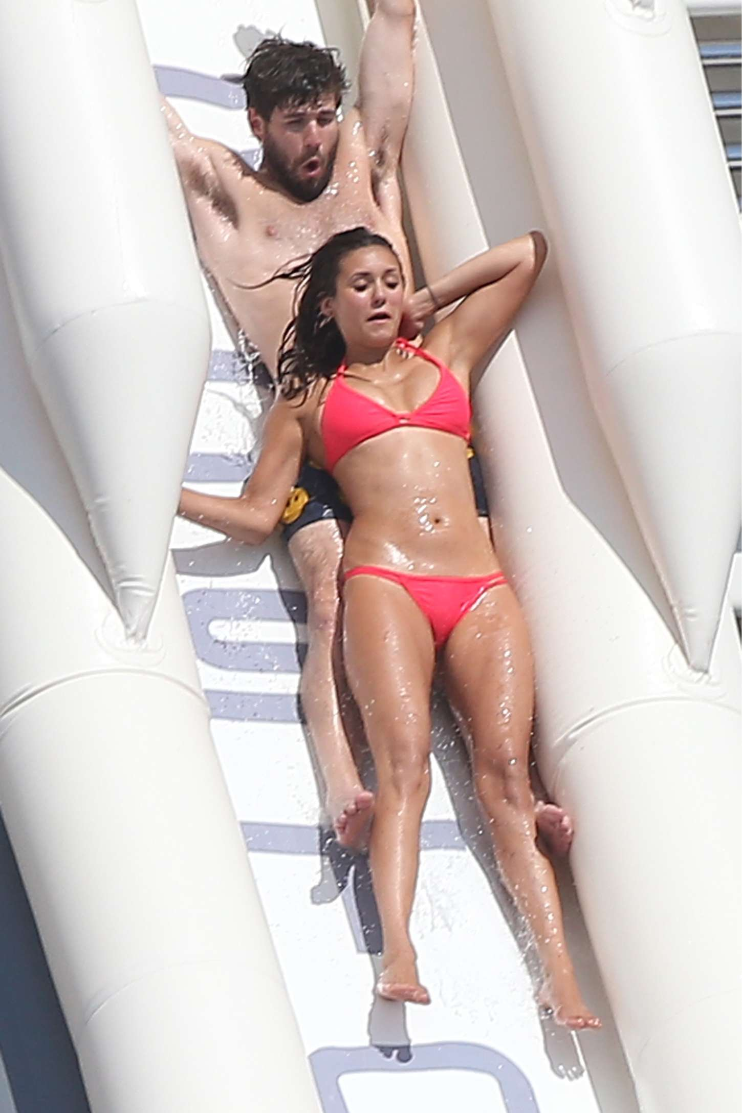 Nina Dobrev in Red Bikini Hot Personal Pics Pic 15 of 35