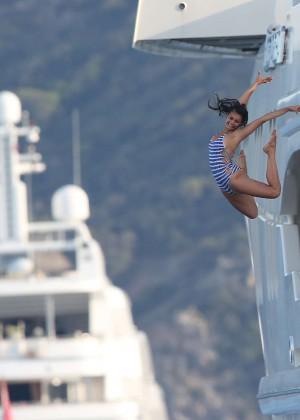 Nina Dobrev in Swimsuit -17