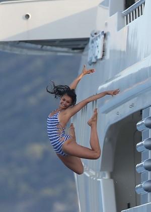 Nina Dobrev in Swimsuit -21
