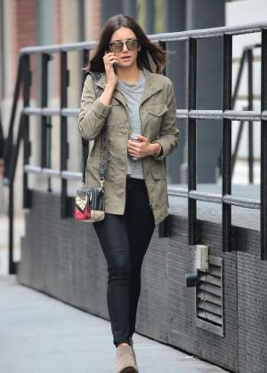 Nina Dobrev in Tight Jeans Out in NYC