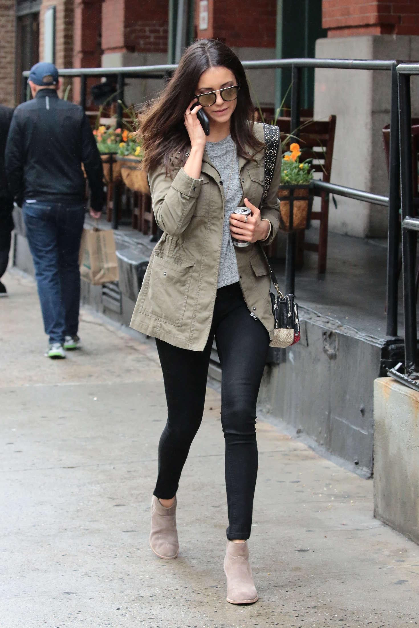 Nina Dobrev in Tight Jeans -07 - GotCeleb
