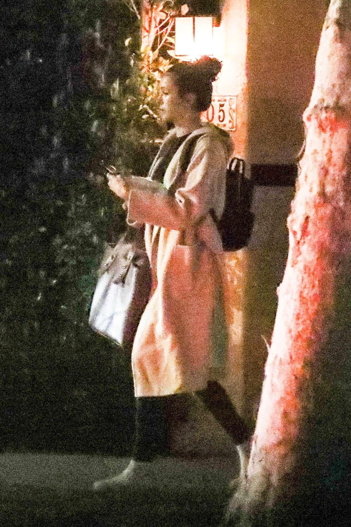 Nina Dobrev - Leaves a house in Beverly Hills