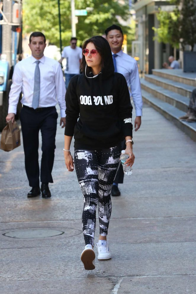 Nina Dobrev - Leaves an intense workout in New York City