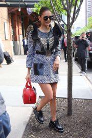 Nina Dobrev - Leaves her hotel in NYC