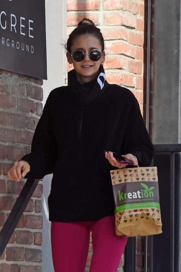 Nina Dobrev - Leaves the gym after a workout in West Hollywood