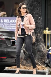 Nina Dobrev - Leaving Bluestone Lane Cafe in LA