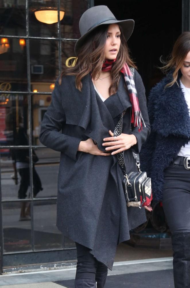Nina Dobrev - Leaving her hotel in NYC