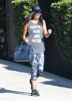 Nina Dobrev - Leaving the Gym in Los Angeles