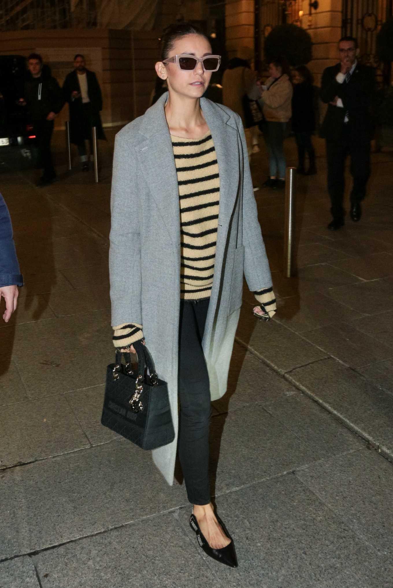 Nina Dobrev - Leaving the Ritz hotel in Paris