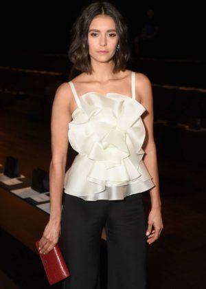 Nina Dobrev - Marchesa show at New York Fashion Week 2017