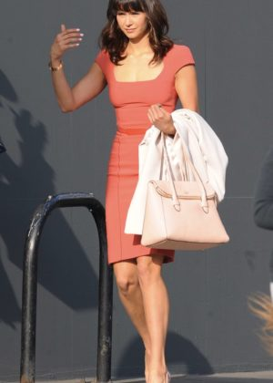 Nina Dobrev on the set of 'Dog Days' Los Angeles