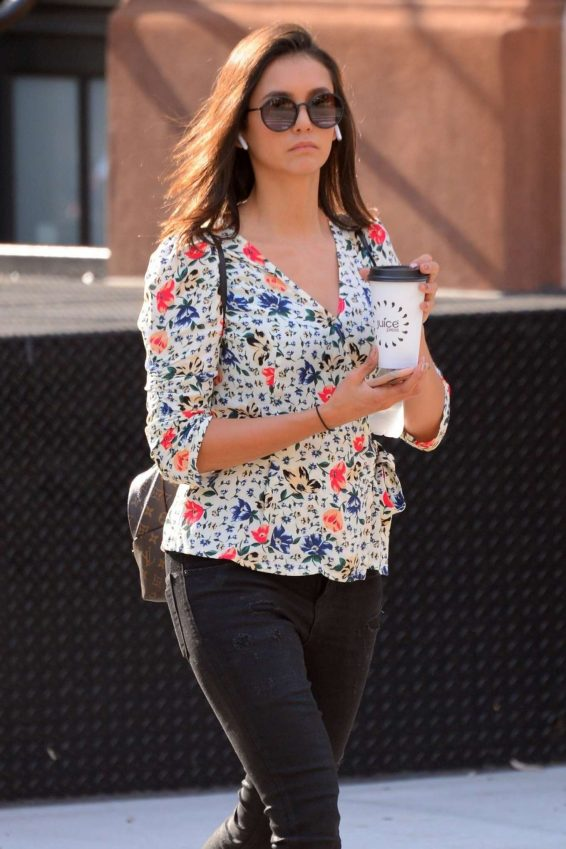 Nina Dobrev - Out a coffee run in Manhattan